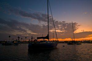 Sailing Vessel Cuajota at Sunset WD Schock Santana 30
